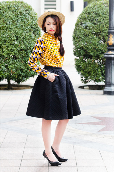 geometric H&M blouse - H&M skirt