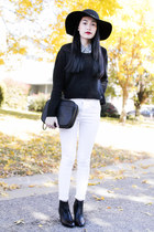 plaid Forever 21 shirt - Zara boots - black H&M sweater - 31 Phillip Lim bag