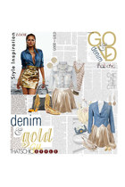 gold rarelondon skirt