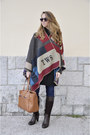 Black-stradivarius-coat-navy-salsa-jeans-brown-stradivarius-bag