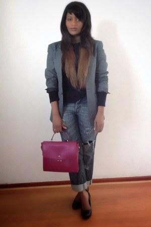 vintage blazer blazer - REPLAY jeans - Knomo bag - Woolworths heels