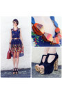 Brown-wild-pair-shoes-navy-love-love-lorelei-dress