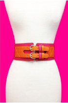COLOR BLOCK PU & ELASTIC BELT