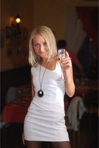 white Naf-Naf dress