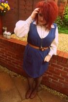 Topshop dress - lace collar vintage shirt