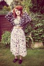 Forever-21-shoes-grey-midi-topshop-dress-floral-vintage-shirt