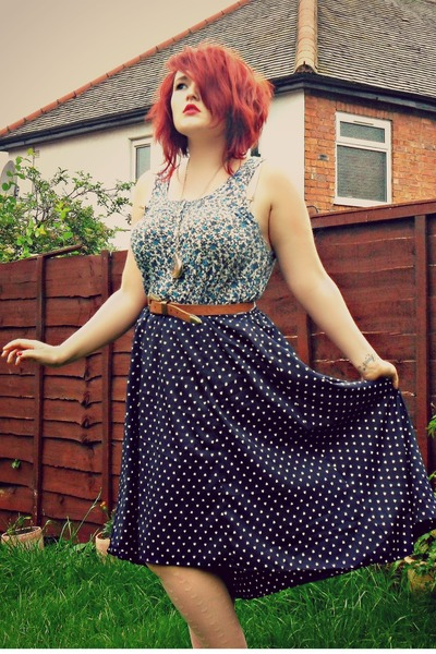 dip hem TK Maxx skirt - Newlook shoes - Primark belt - floral Topshop blouse