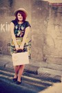 Vintage-skirt-newlook-shoes-newlook-hat-primark-bag-topshop-top