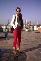 Zara blazer - thrifted vintage scarf - Chanel bag - Prada pants