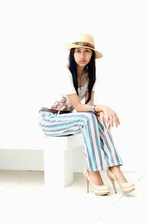 Promod hat - Zara shirt - moms closet pants - michael antonio heels