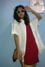 Green-gogirl-glasses-white-dads-shirt-red-rodeo-dress-red-unbranded-shoes