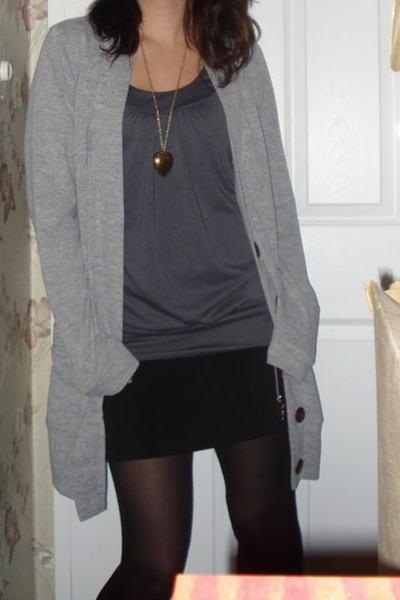 Charlotte Russe sweater - forever 21 top - Charlotte Russe skirt - tights - Rue