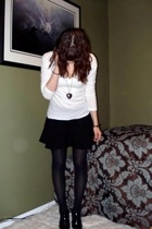 H&M shirt - H&M skirt - tights - payless shoes - Rue 21 necklace - bracelet
