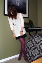 H&M shirt - H&M dress - random tights - payless shoes - Rue 21 necklace - bracel