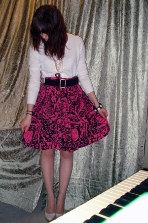 Rue 21 skirt - H&M jacket - belt - Forever21 bracelet - Aldo shoes - Rue 21 neck