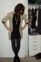 Rue 21 accessories - black le chateau shoes - beige Rue 21 jacket - black shirt