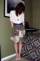 moms belt - moms blouse - moms - Aldo shoes - Rue 21 necklace - old bracelet
