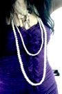 Purple-bebe-dress-white-miss-selfridges-necklace-silver-accesorize-necklace-