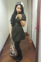 stroberi accessories - Jane Norman leggings - Mango dress - Forever 21 belt - To