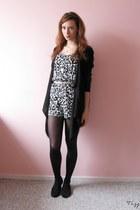 Black & white leopard jumpsuit