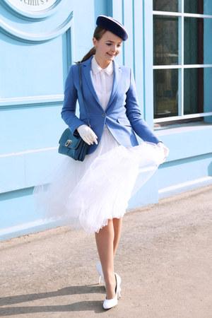 blue handmade hat - sky blue Massimo Dutti jacket - white Reiss shirt