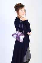amethyst Glance bag - navy Glance cardigan