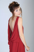 brick red Love dress