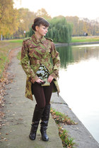 olive green jean paul gaultier coat - brown Glance top