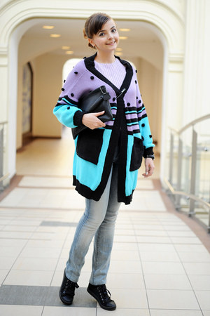 sky blue Fairground cardigan - light blue Taya jeans