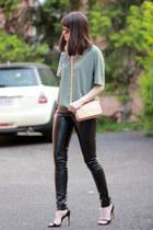 Zara shoes - tory burch bag - Juicy Couture sunglasses - Prada t-shirt