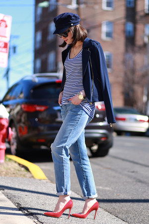 C Wonder jacket - Ray Ban sunglasses - banana republic t-shirt - Miu Miu heels