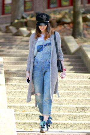 Dr Martens boots - Zara romper - Armani Exchange cardigan