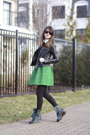 Anthropologie skirt - Dr Martens boots