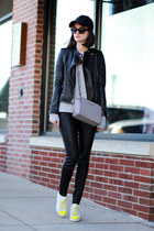 Juicy Couture jacket - Michael Kors bag - Ray Ban sunglasses - vince pants