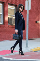 Club Monaco blazer - coach bag - vera wang pumps