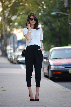 Jimmy Choo bag - hm top - Giuseppe Zanotti heels - hm pants