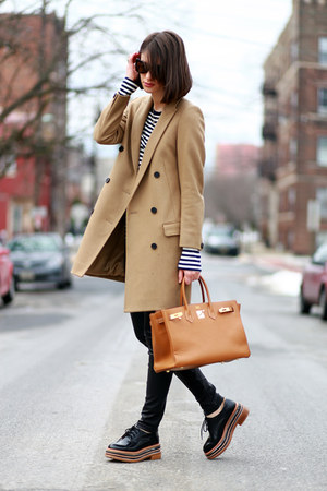 All Saints coat - Jeffrey Campbell shoes - Hermes bag - vince pants