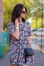 Aqua-dress-gucci-bag-ray-ban-sunglasses-prada-sneakers