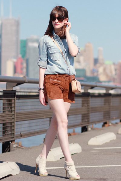 Mango shirt - Miss Sixty shoes - tory burch bag - Mango shorts