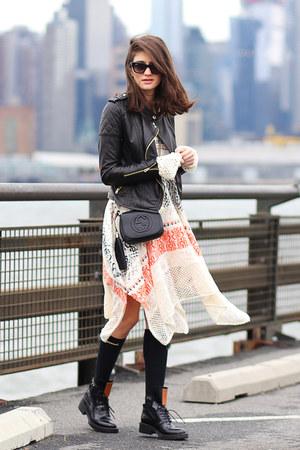 Anthropologie dress - Gucci bag
