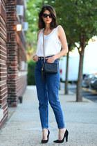 American Apparel jeans - Gucci bag - Giuseppe Zanotti heels - Aqua top