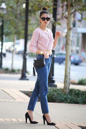 American Apparel jeans - Aqua sweater - Gucci bag - Giuseppe Zanotti heels