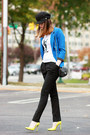 Aqua-blazer-yves-saint-laurent-t-shirt-gucci-pumps