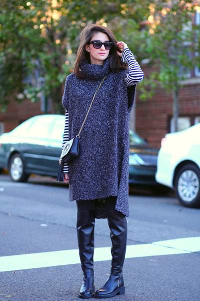 ASH boots - hm sweater