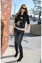 forever 21 jacket - Guess jeans - Macys belt - Dolce and Gabbana shirt - Dolce a