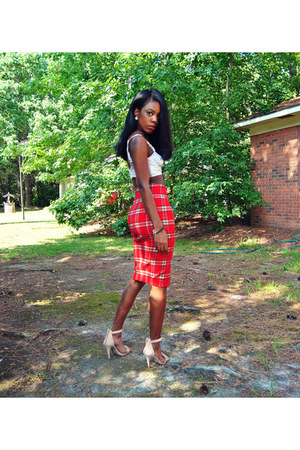 Choies skirt - Charlotte Russe heels