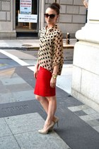 chiffon TJ Maxx blouse - patent leather rachel roy heels