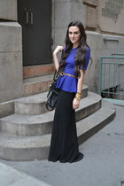 peplum H&M top - leather Michael Kors bag - chiffon Urban Outfitters skirt