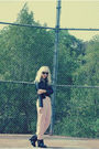 Black-h-m-jacket-black-silence-and-noise-intimate-pink-american-apparel-pant