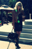 Forever 21 dress - banana republic jacket - thrift shoes - accessories